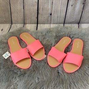 Just Be Pink Summer Slide Sandals NWT